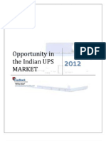 Oppurtunity in the Indian UPS Market_Feedback OTS_2012