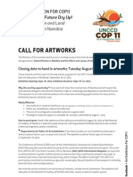 Call for Artworks ArtExhibition Cop11 UNCCD