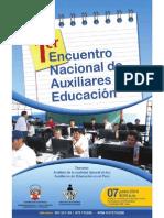 Encuentro Nac Aux Educ Afiche 07.06.13