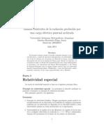 Análisis relativista de la radiación producida poruna carga eléctrica puntual acelerada.