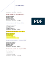 Fixture Eliminatorias Brasil 2014