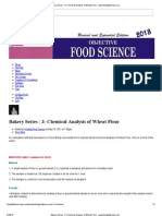 Chemical Analysis of Wheat Flour