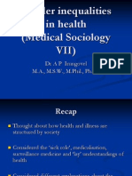 Medical Sociology Medical Sociology VIII Ethnicity, Racism
