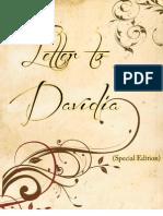 Letter to Davidia