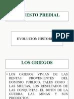 EVOLUCIÓN HISTÓTICA DEL IMPUESTO PREDIAL