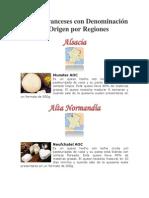 Quesos Franceses con Denominación de Origen por Regiones