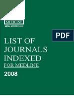 Journal list for medicine