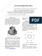 Biaxial Analysis of General Shaped Base Plates