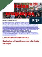 Noticias Uruguayas Martes 16 de Julio Del 2013