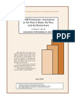 Mwss Privatization by David (Pids) 2000