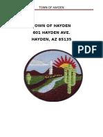 Hayden Town Policy