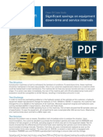 Significant savings on equipment down-time and service intervals