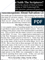 2010.06.16 - Misconceptions About Salvation - Part 2