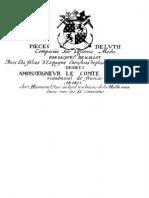 13086656 Pieces de Luth Jacques Gallot