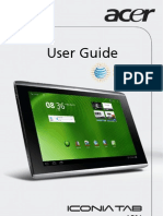 Acer Iconia Tab A501 User Manual