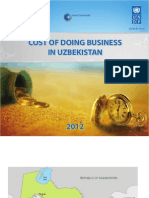 Cost of doing business in Uzbekistan