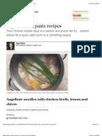 Nigel Slater's Pasta Recipes