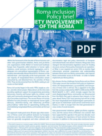Policy brief - Civil society involvement of the Roma