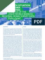 Policy brief - Roma health
