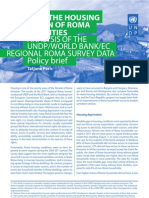 Policy brief - Roma housing