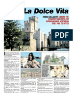 """La dolce vita"" Sligo Champion Article May 22nd 2013 - Press trip Bresciatourism/Ryanair"