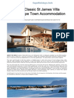 5 star B&B Cape Town St James | Luxury Self Catering Accommodation