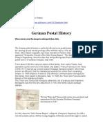 German Postal Service History