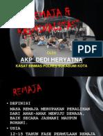 Remaja Dan Kriminalitas 2011