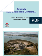 Towards More Sustainable Concrete