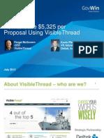 How to Save $5,325 per Proposal Using VisibleThread - Deltek and VisibleThread Webinar