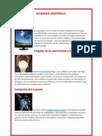 GRANDES AVANCES CIENTÍFICOS Y TECNOLÓGICOS EN EL SIGLO XX