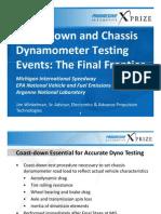 Coastdown Chassis Dynamometer Testing Events