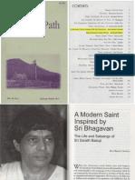 About Sri Sainathuni Sarath Babuji in the 'Mountain Path' magazine.