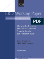 Changing Bank Lending Behavior and Corporate Financing in Asia