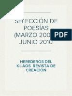 SELECCIÓN DE POESÍAS  (MARZO 2006-JUNIO 2010)