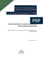 Silva, Adrian - Teoria Agnóstica e a Crise das Funções da Pena na Era do Punitivismo