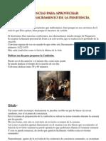 Sugerencias para el sacramento de la Penitencia
