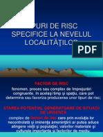 Tipuri de Risc Specifice La Nivelul Localitatilor