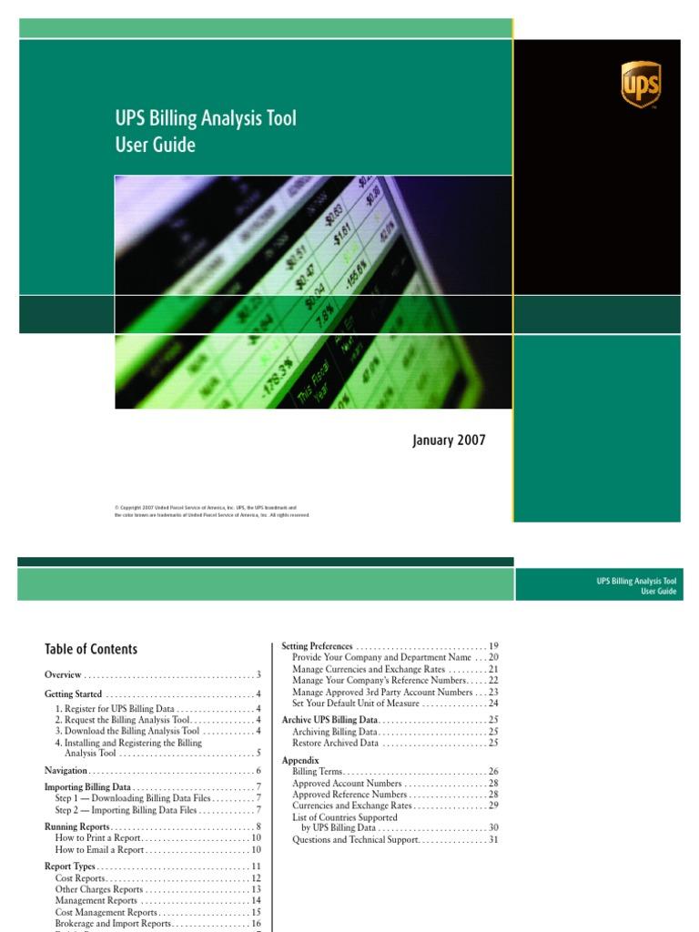 BAT-UserGuide pdf | United Parcel Service | Invoice