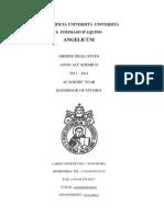 Ordine Degli Studi 2013-2014