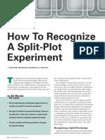 Recognize Split Plot Experiment