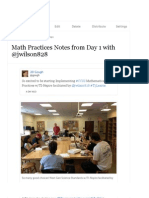 Math Practices Notes from Day 1 with @jwilson828 (with images, tweets) · jgough · Storify