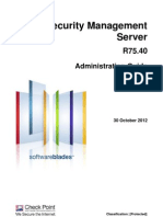 CP R75.40 Security Management AdminGuide