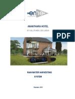 Rainwater Harvesting Report