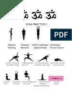 yoga practise sheet 1