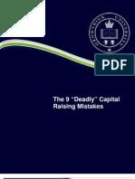Deadly Capital Raising Mistakes