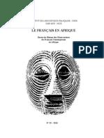 Article Français en Afrique