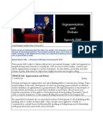 spch 2160 - argumentation and debate