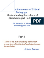 17284656 Folklore and Critical Pedagogy Understanding the Culture of Disadvantaged in India