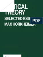 Max Horkheimer - Critical Theory - Selected Essays